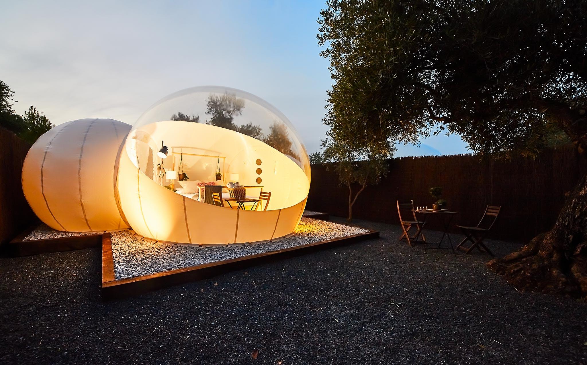 Nomading Camp. Hotel Burbuja en Andorra